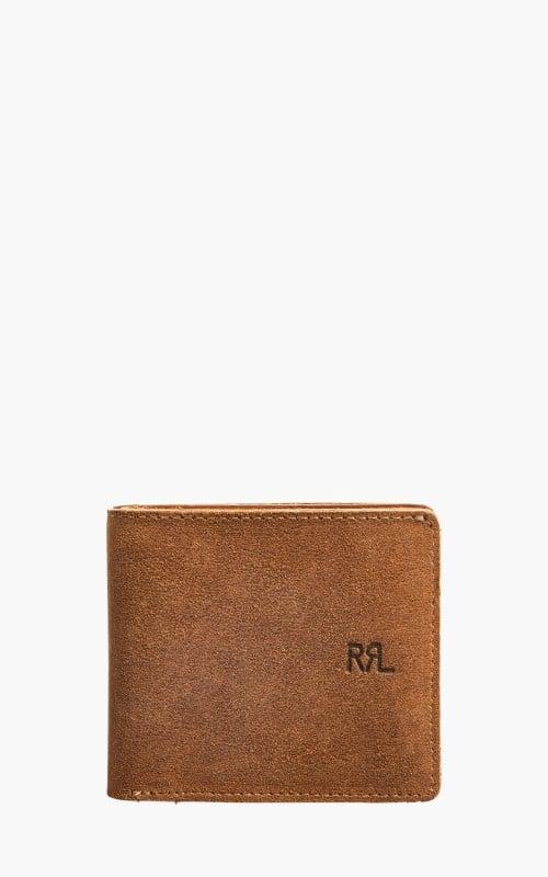 RRL Billfold Wallet Ranch Suede Leather Light Java