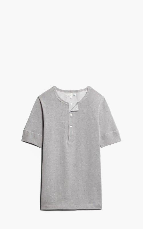 Merz b. Schwanen 207 Button Facing Shirt 1/4 Greymelange