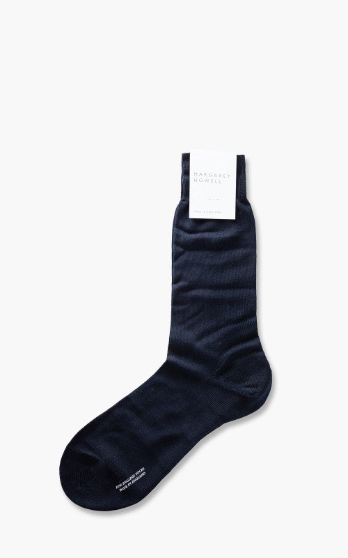 Margaret Howell Plain Sock Navy