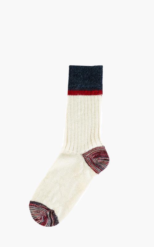 Merz b. Schwanen S73 Retro Sport Socks Nature/Red