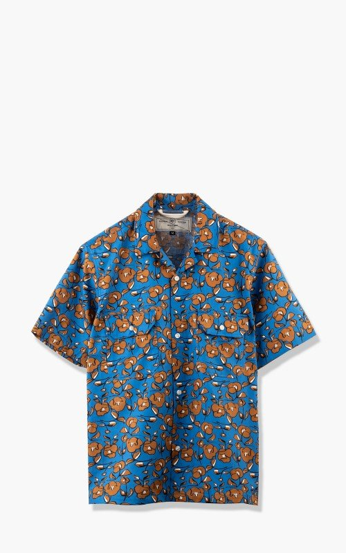 Rogue Territory Infantry S/S Shirt Blue Floral