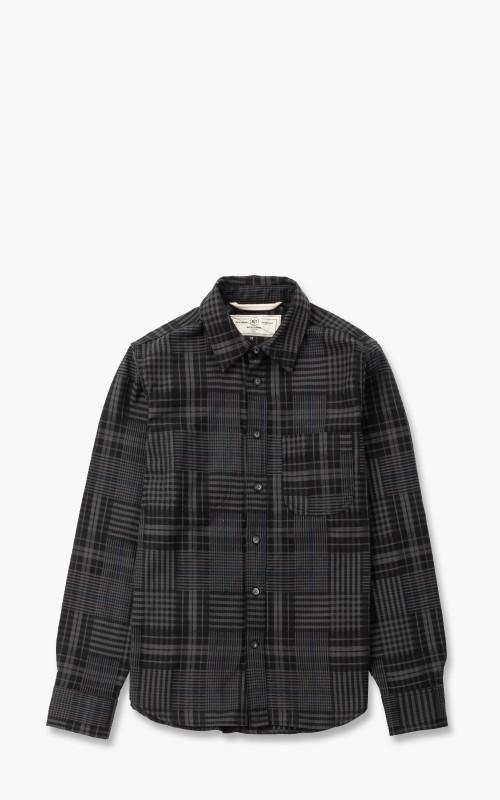 Rogue Territory Jumper Shirt Dark Grey Abstract Plaid
