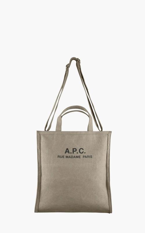 A.P.C. Recuperation Shopping Bag Khaki