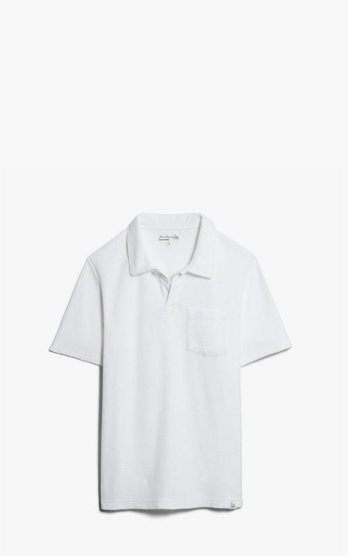 Merz b. Schwanen FTPLP01 Polo Shirt French Terry White