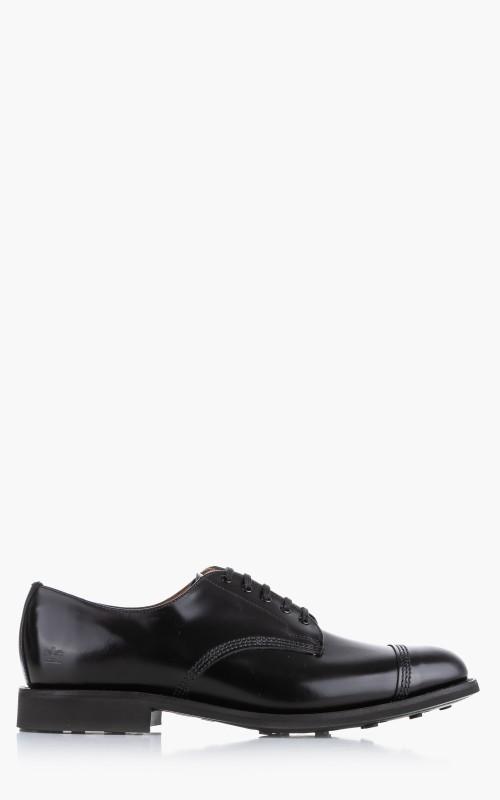Sanders Military Cap Toe Derby Shoe Black