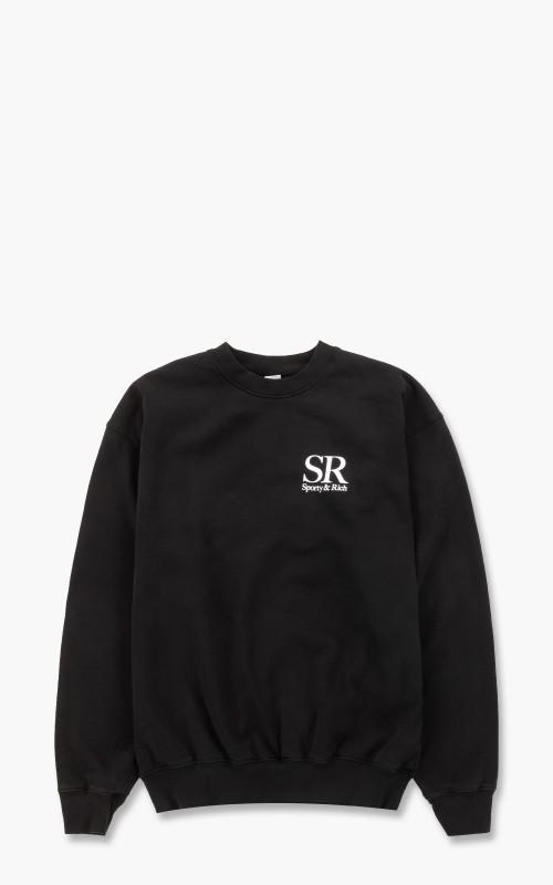 Sporty & Rich SR Crewneck Black