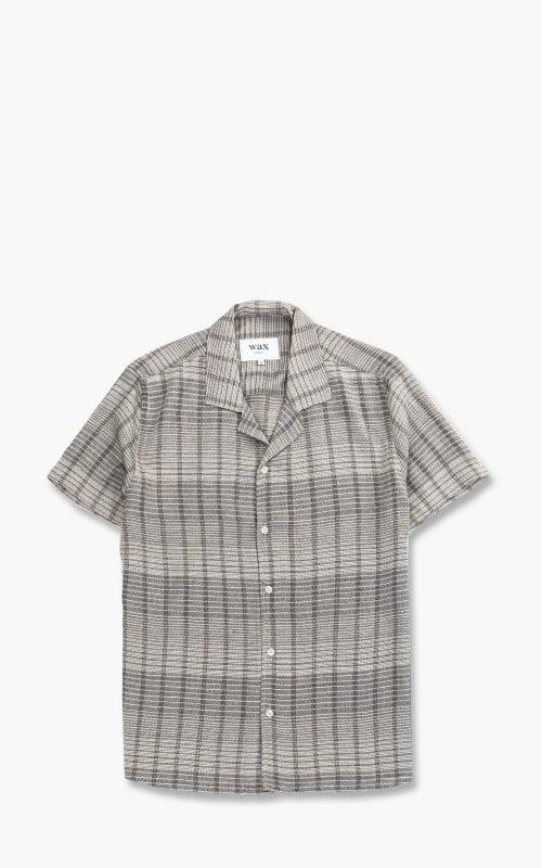 Wax London Didcot Viscose Shirt Checked Black