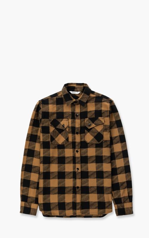 3sixteen Crosscut Flannel Mustard/Black