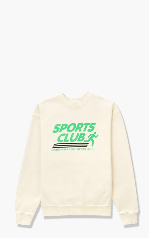 Sporty & Rich Sports Club Crewneck Milk