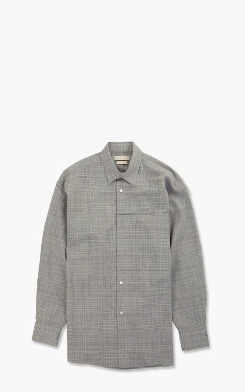 Yoke Oversized Big Pocket Shirt Heather Grey