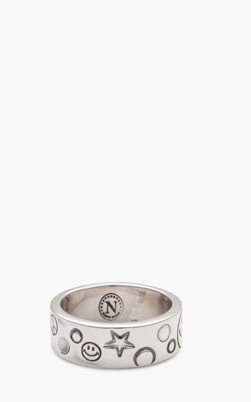 North Works W-321A Ring 900 Silver Smiley