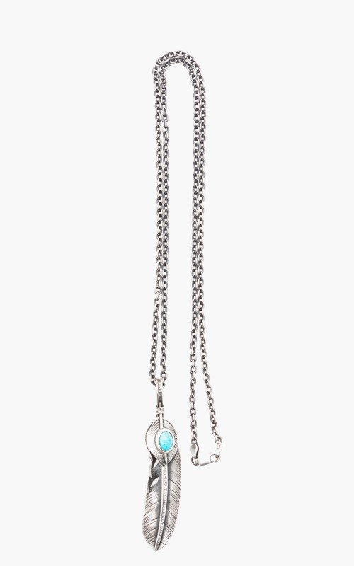 North Works x CULTIZM Necklace 925 Silver Liberty Feather Turquoise