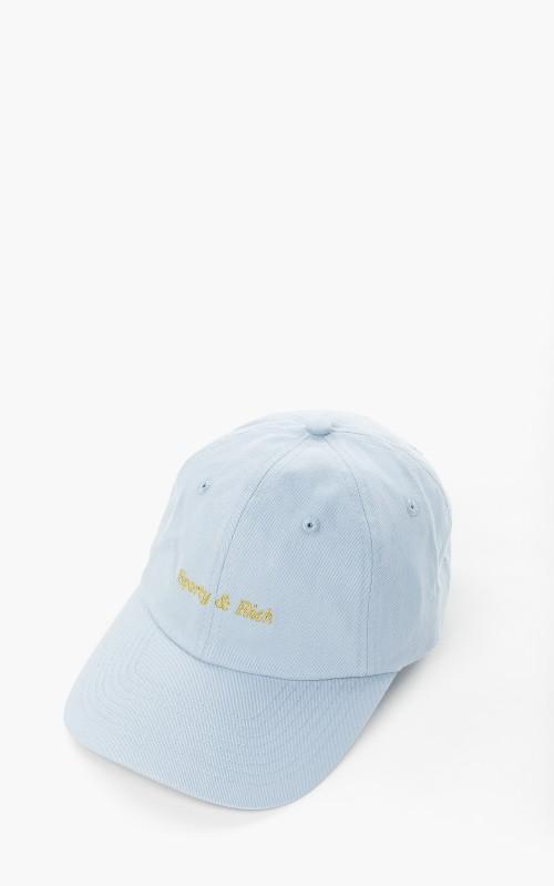 Sporty & Rich Classic Logo Hat Baby Blue