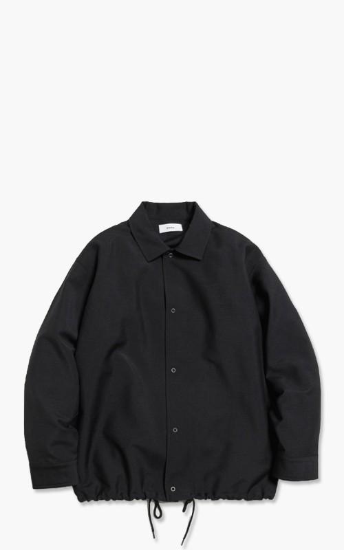 Markaware 'Marka' Wool Mohair Tropical Coach Shirt Black