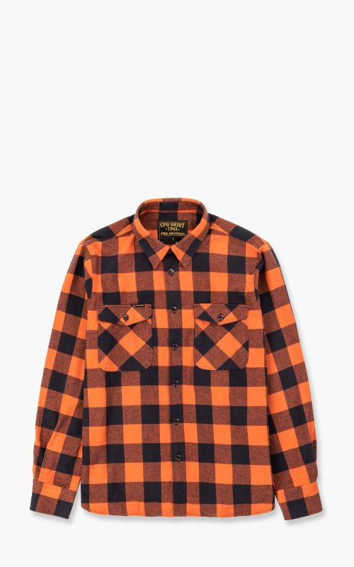 Pike Brothers 1943 CPO Shirt Buffalo Flannel Red