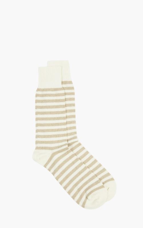 Universal Works Stripe Sock Ecru