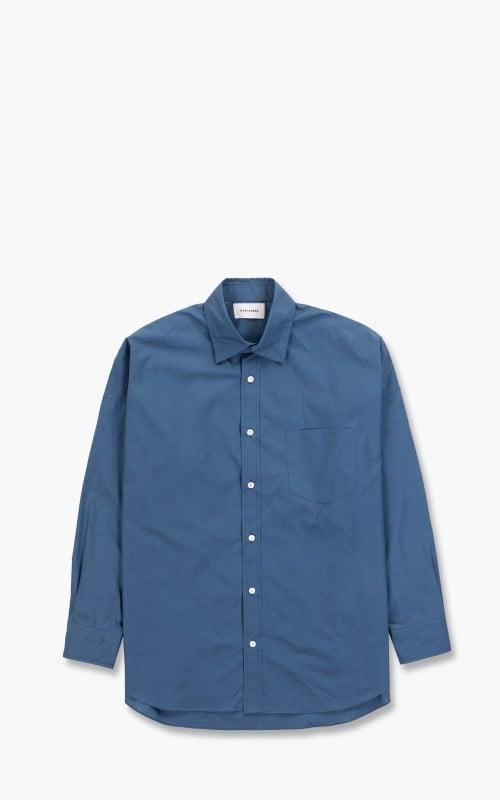 Markaware Tent Shirt Organic Cotton Shirting Soktas Pull Cyan Blue