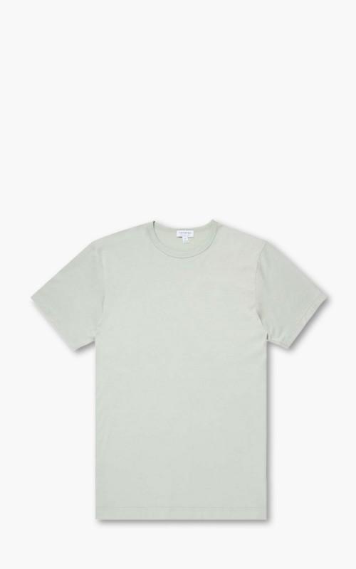 Sunspel Short Sleeve Classic Crewneck T-Shirt Duck Egg