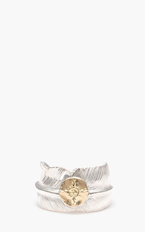 First Arrows R-071 Feather Ring 18K