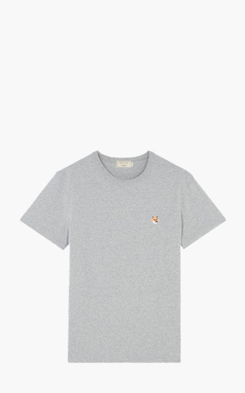 Maison Kitsuné T-Shirt Fox Head Patch Grey Melange