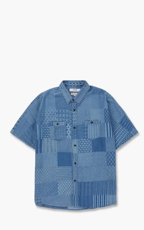 FDMTL Oversized S/S Shirt 3 Year Wash Indigo