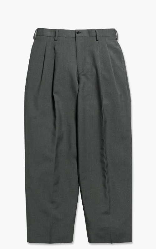 Markaware 'Marka' Wool Mohair Tropical 2Tuck Cocoon Fit Trousers Olive Gray