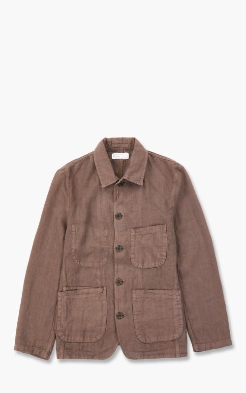 Universal Works Bakers Jacket Linen Brown