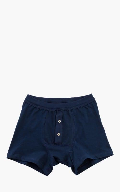 Merz b. Schwanen 255 Button Facing Underpants Ink Blue