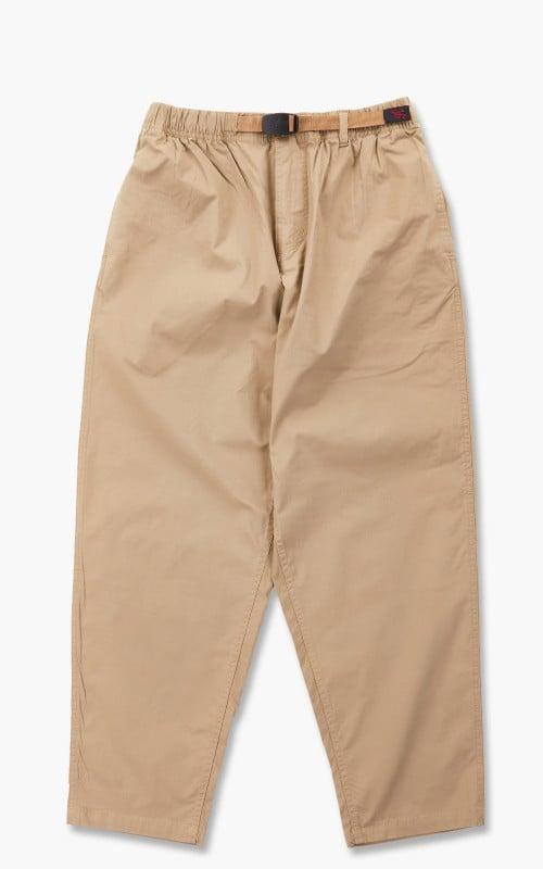 Gramicci Weather Wide Tapered Twill Pants Tan