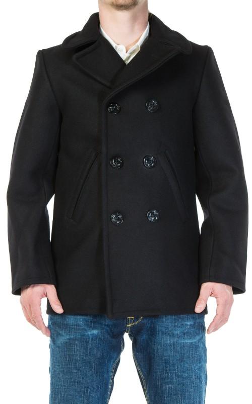 Pike Brothers 1938 Pea Coat Wool Black