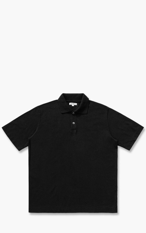 Lady White Co. Short Sleeve Two Button Polo Black