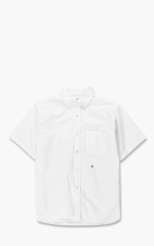 Nanamica Button Down Stripe Wind H/S Shirt White