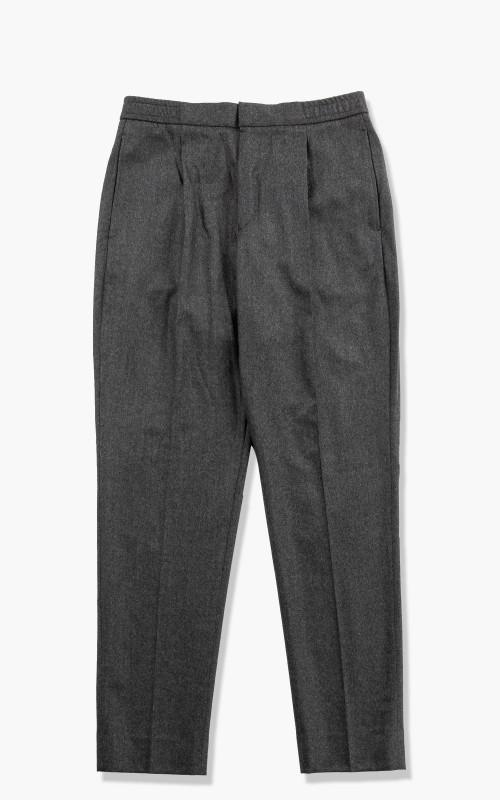 Officine Generale Drew Pants Worsted Wool Dark Grey
