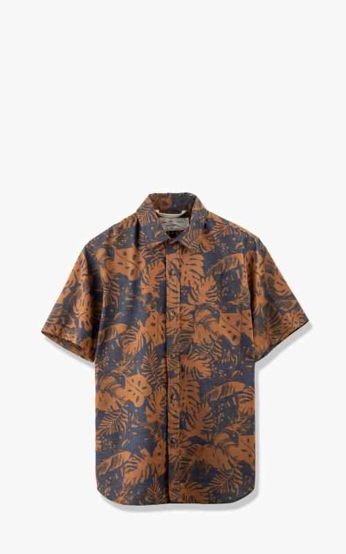 Rogue Territory Oxford S/S Shirt Terra Cotta Monstera