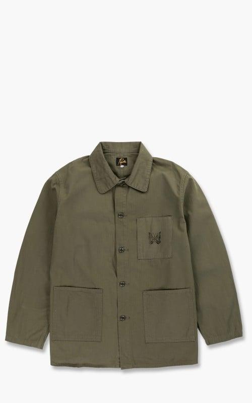 Needles D.N. Coverall Jacket Herringbone Olive