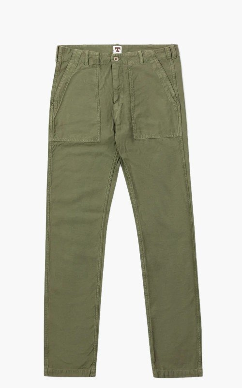 Tellason Fatigue Pant Tapered Sateen Olive
