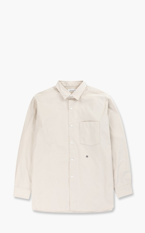 Nanamica Regular Collar Wind Shirt Natural