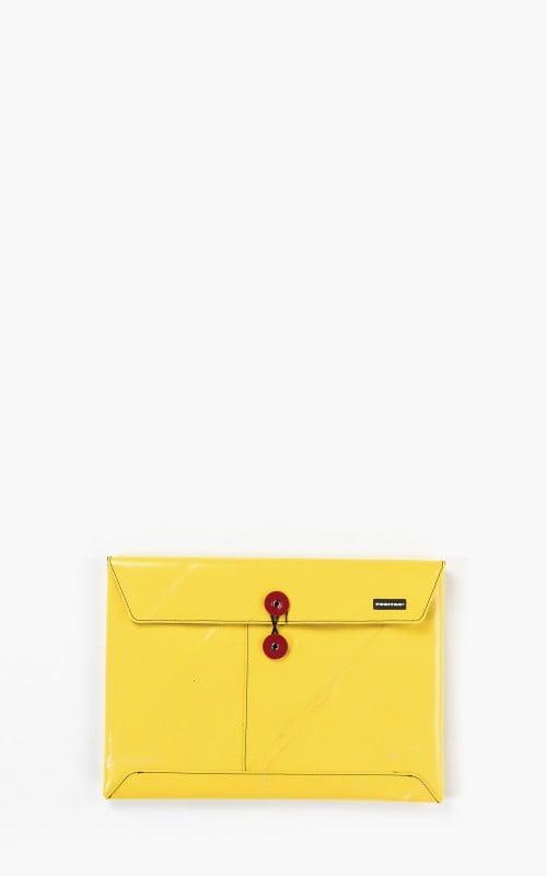 "Freitag F411 Sleeve Padded Laptop Envelope 13"" Yellow 6-2"