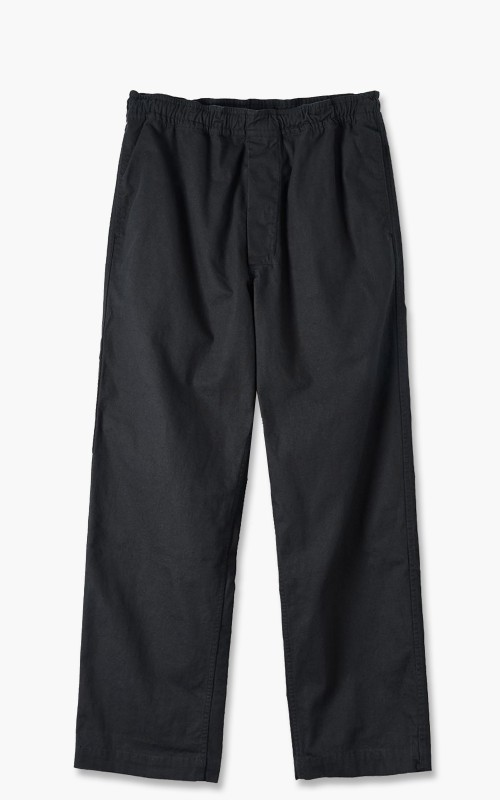 Margaret Howell MHL. Pull Up Trousers Compact Broken Drill Black