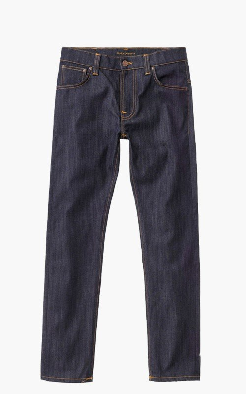 Nudie Jeans Thin Finn Dry Ecru Embo 10.75oz