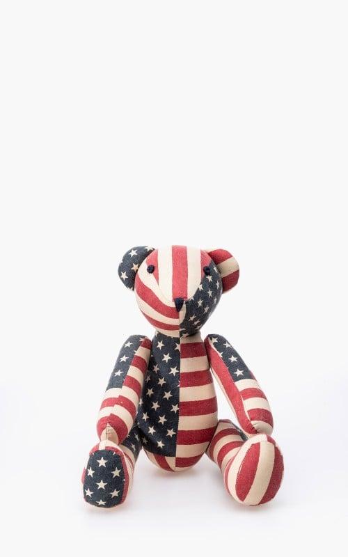 RRL Patchwork Flag Harris Teddy Bear