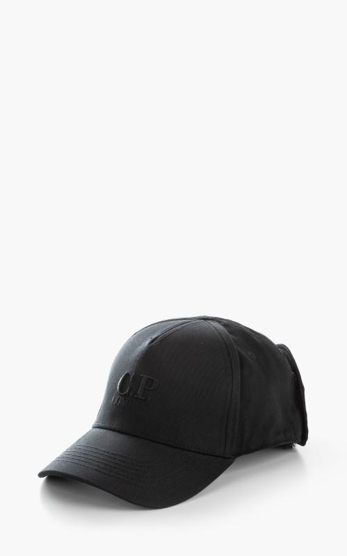 C.P. Company Goggle Back Logo Cap Black