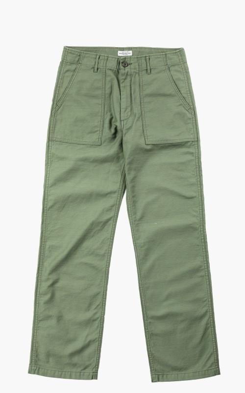 Japan Blue Modern Military Baker Pants Sateen Olive Drab