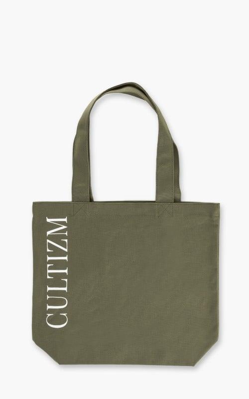 Cultizm Tote Bag Canvas Olive Drab 16oz