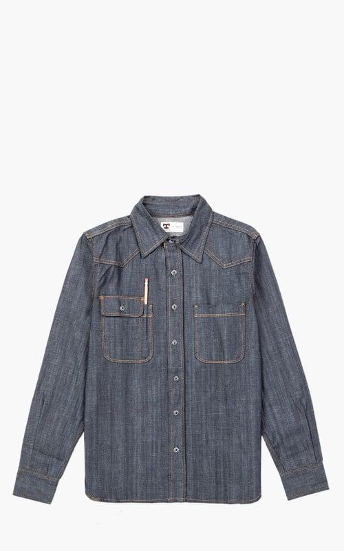 Tellason Topper Denim Shirt Indigo 7.5oz