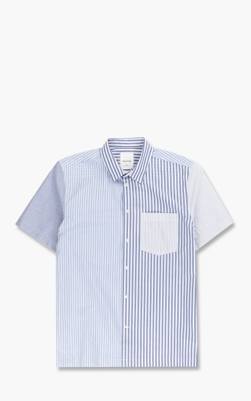 Wood Wood Thor Stripe Shirt Blue Stripes