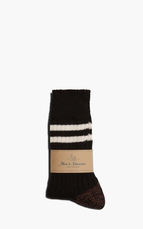 Merz b. Schwanen B75 Striped Socks Black/White
