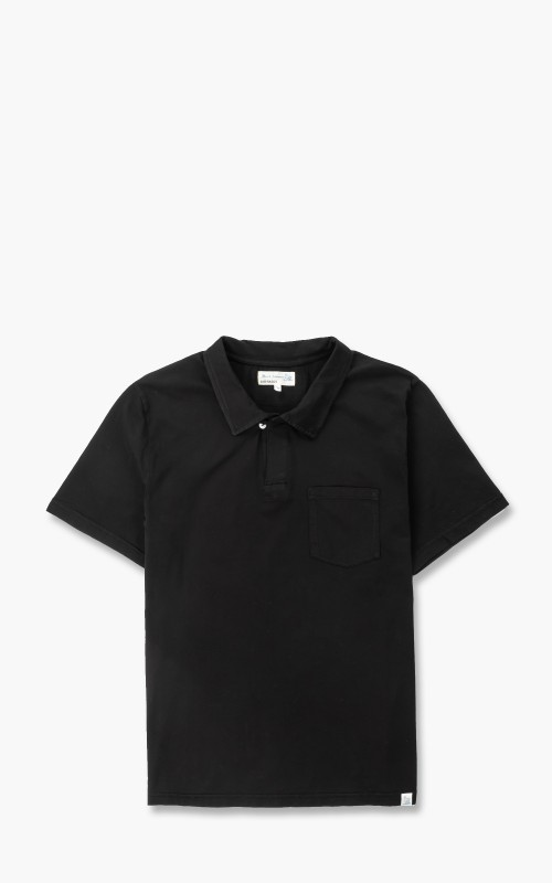 Merz b. Schwanen PLP02 Polo Pocket Shirt Deep Black
