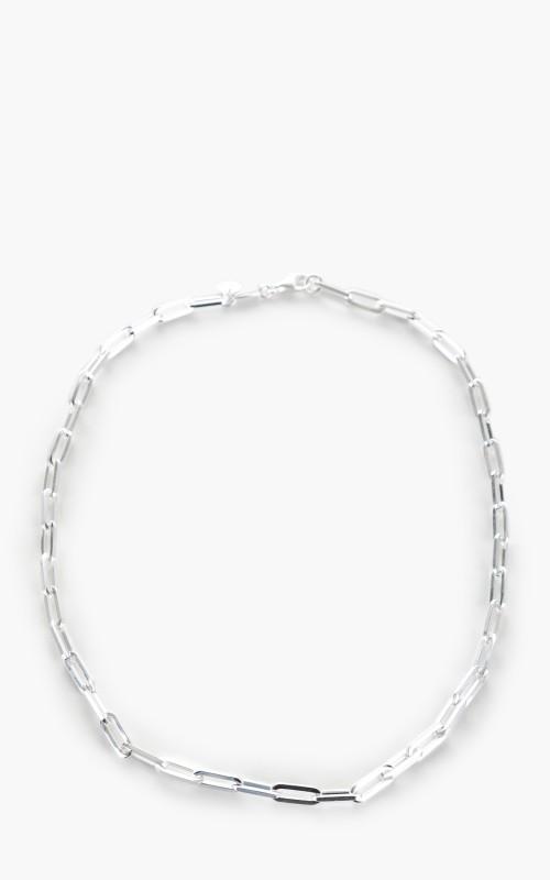 Argentidea Solid Rectangular Link Necklace 925 Sterling Silver