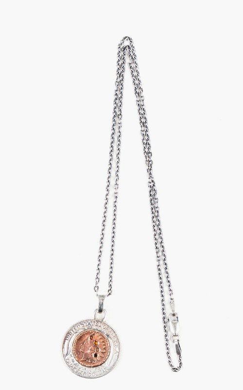North Works N-515 Necklace 925 Silver Indian Coin